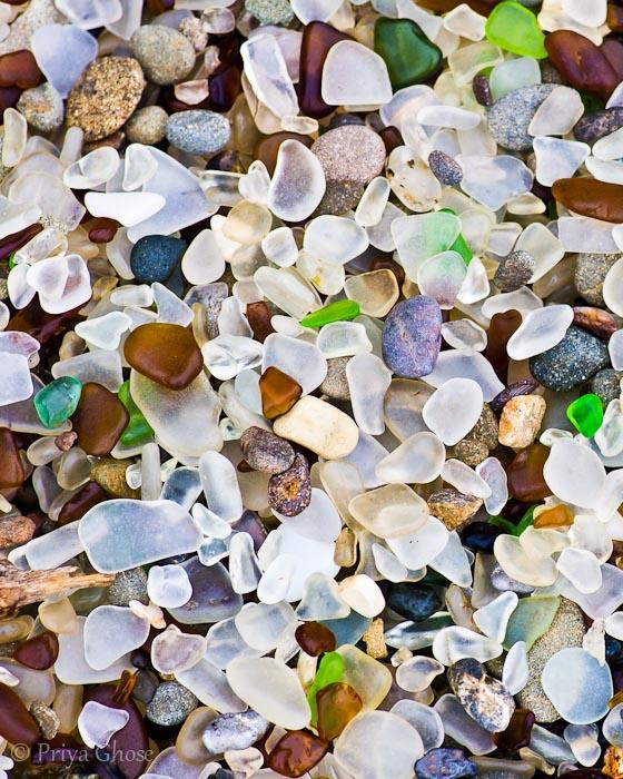 Sea Glass Treasures At Glass Beach